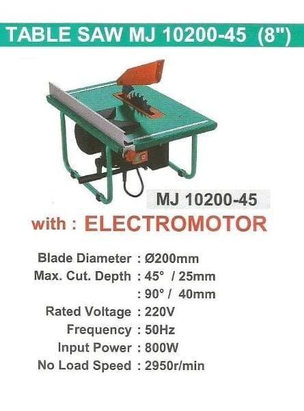 Wipro 8 Inch Table Saw Mesin Gergaji Meja
