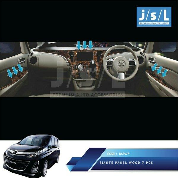 Mazda Biante Panel Kayu Wood Panel 7 PcsAksesoris Interior Biante