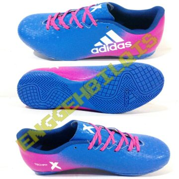 adidas x, sepatu futsal adidas x new, warna biru pink, sepatu futsal adidas