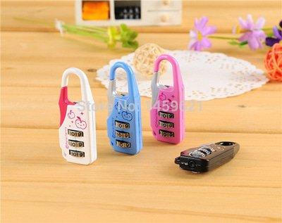 kunci gembok kombinasi kecil padlock coded untuk tas ransel koper lemari dsb
