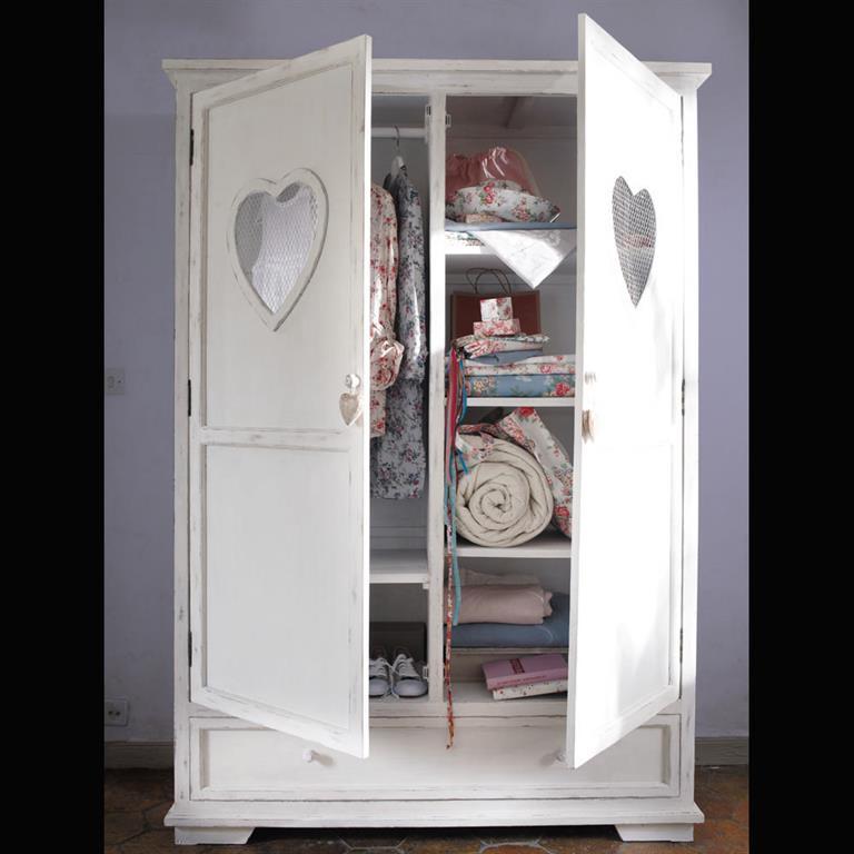 armoire blanche 2 portes 1 tiroir