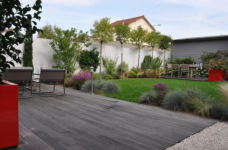 Jardin de ville avec terrasses en bois Garden Trotter