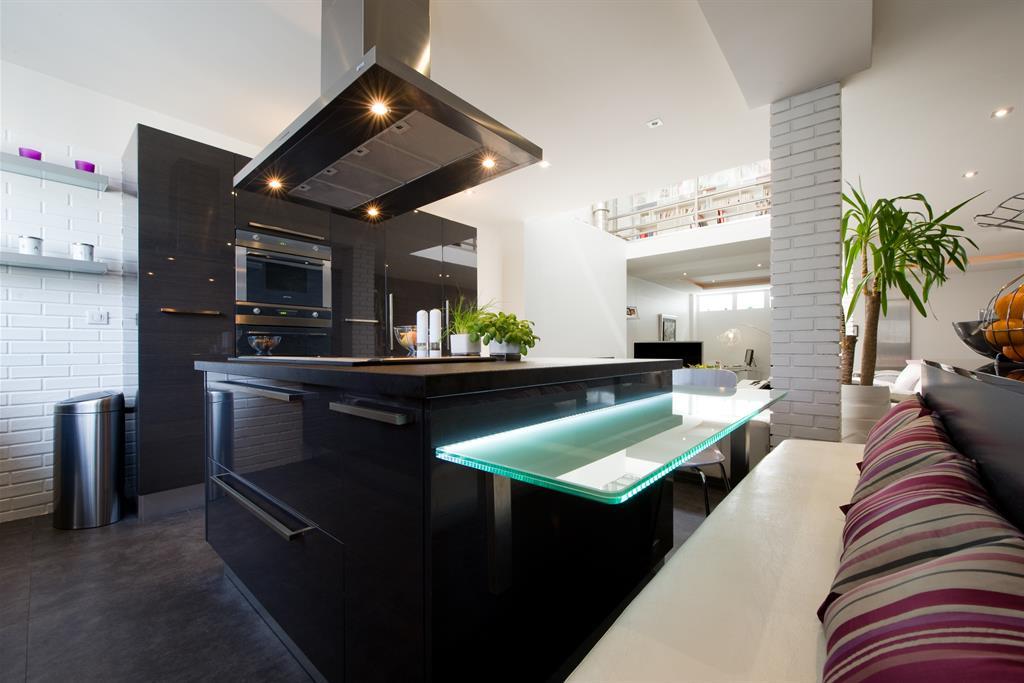 table haute plan de travail cuisine