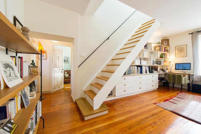 Salon avec parquet et escalier CJMO photo n70  Domozoom