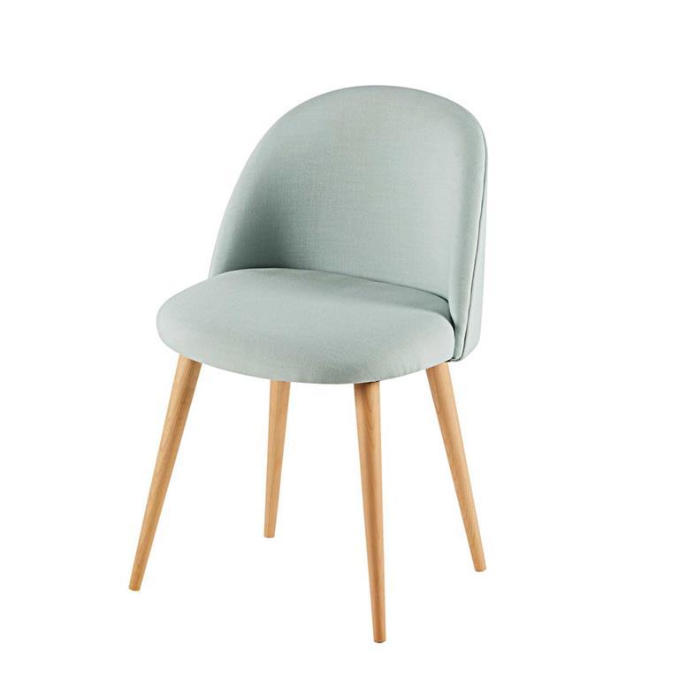 chaise vintage vert d eau et bouleau