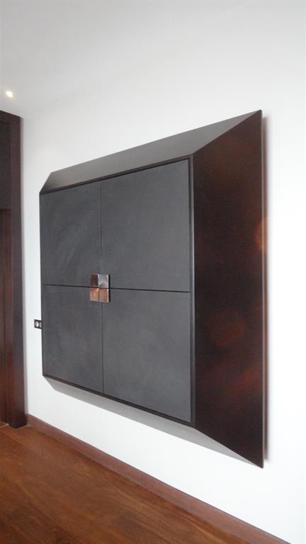 meuble rangement dans le couloir