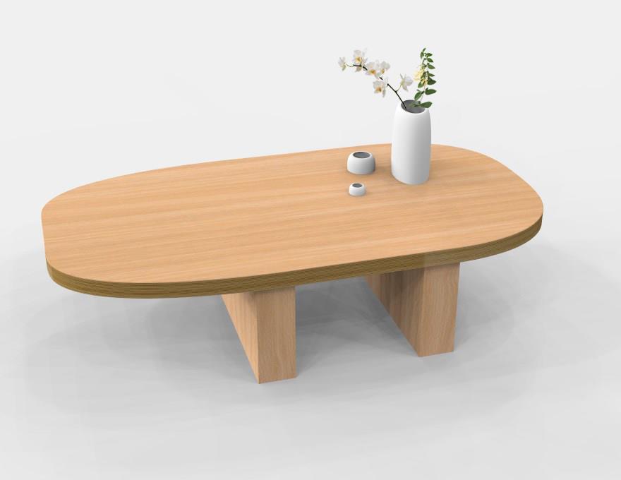 Geta With Table Basse Designer Japonais