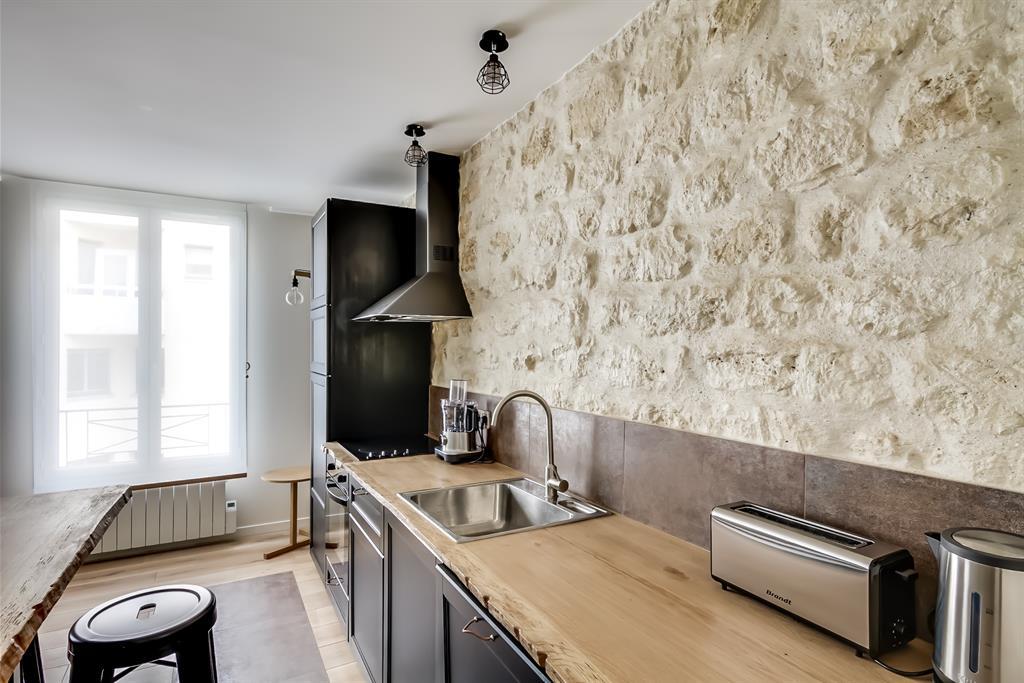 Chambre Avec Mur En Pierre Trendy Aimable Cuisine Mur