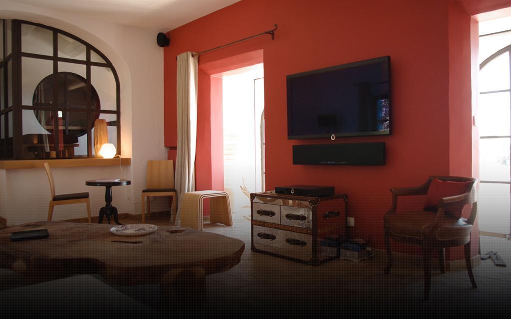 dco salon orange marron
