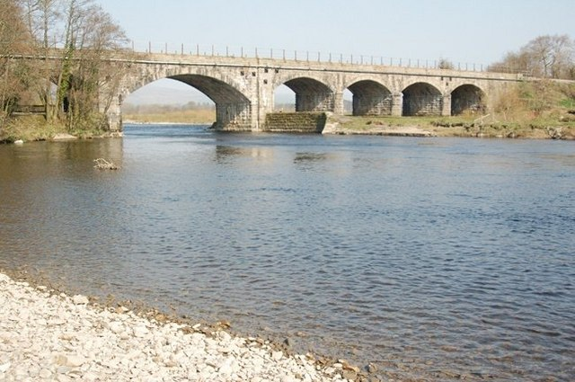 River Lune bridge at Arkholme