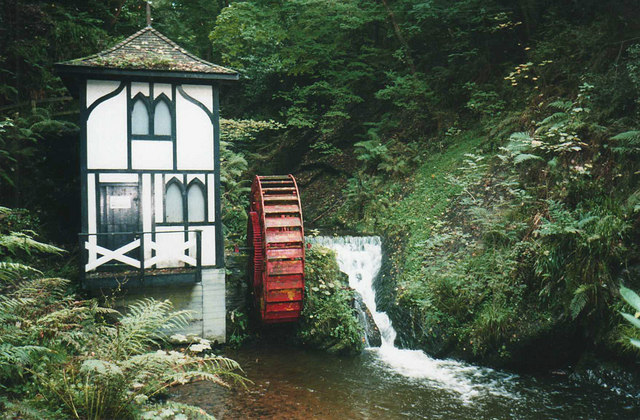 Groudle Glen waterwheel  Trevor Rickard  Geograph