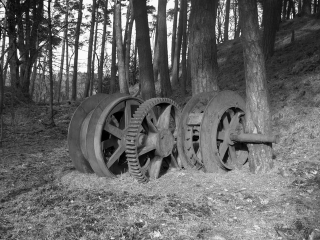Winding Gear in the woods