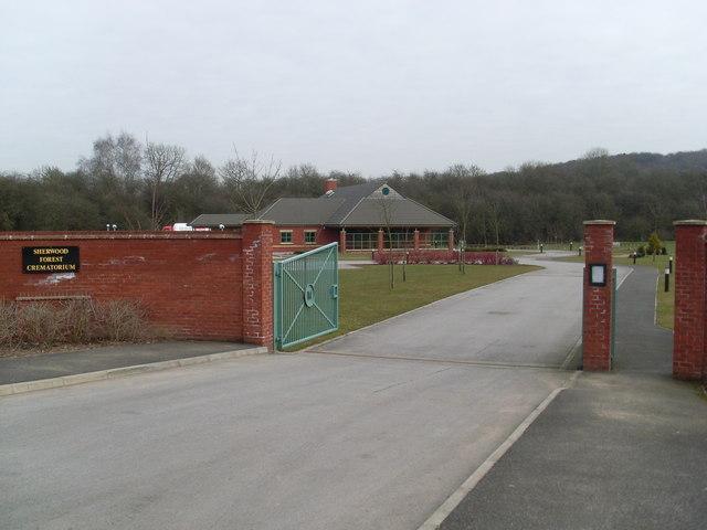 Sherwood Forest Crematorium Entrance David Hillas