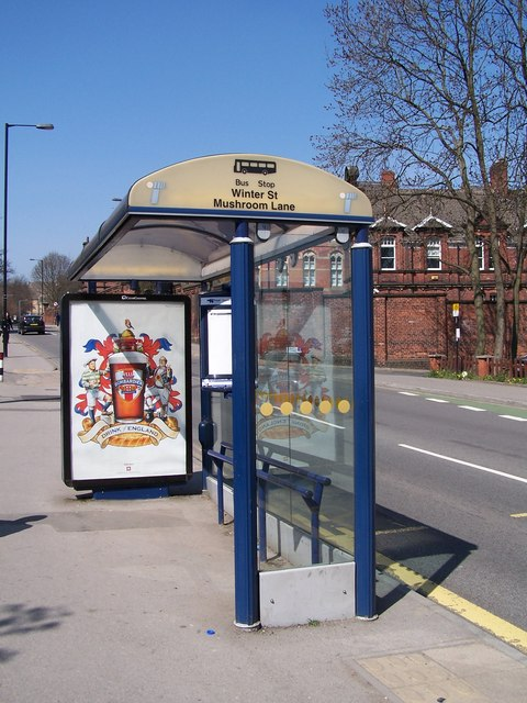 Bus Stop on Winter Street, Sheffield (C) Terry Robinson :: Geograph ...