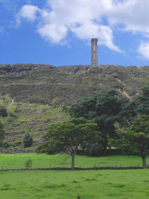 Climbing Holcombe Hill and Peel Monument  David Dixon