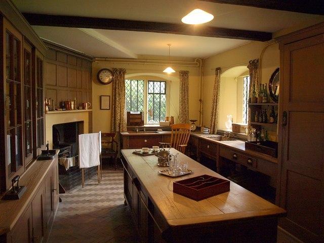 large kitchen pantry chairs set of 4 servants room, dunham massey © derek harper cc-by-sa/2.0 ...