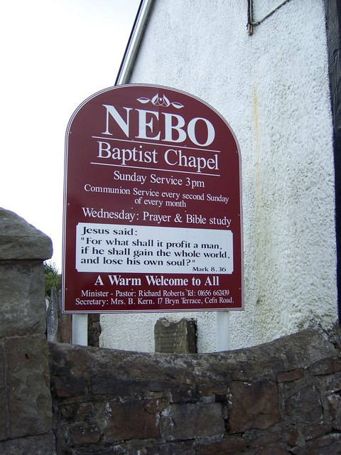 Nebo Baptist Chapel Cefn Road Cefn  Terry Robinson  Geograph Britain and Ireland