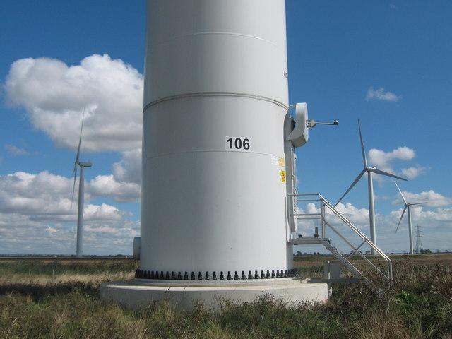 Base of Wind Turbine 106  David Anstiss  Geograph