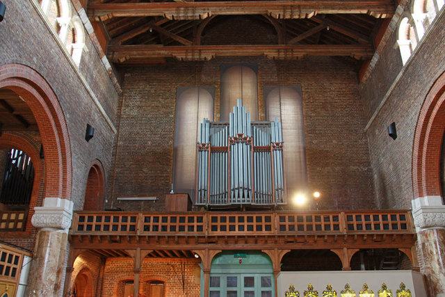 St Agatha Portsmouth  Organ loft  John Salmon  Geograph Britain and Ireland