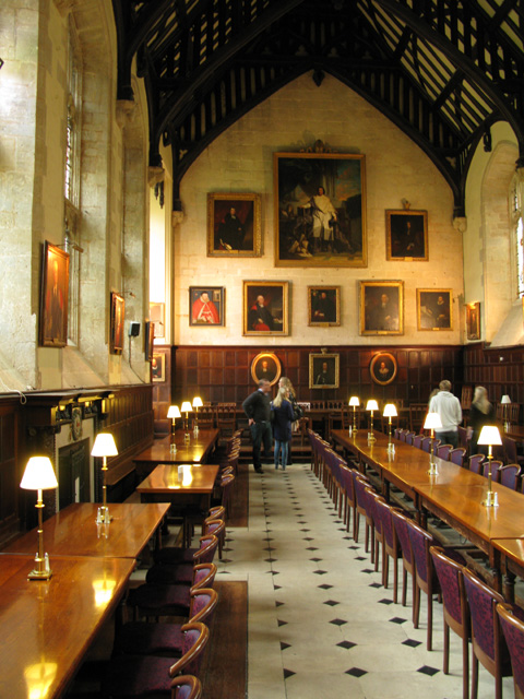 The interior of the dining hall Exeter  Nick Smith