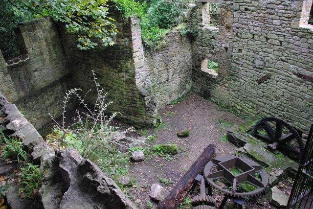 The old mill site Jesmond Dene  peter maddison