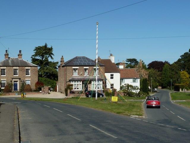 Village Green with Maypole, Aldborough © Paul Buckingham cc-by-sa