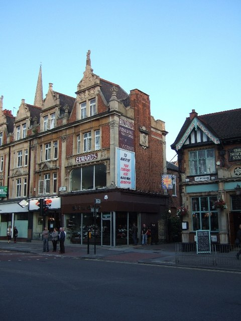 Edwards shop in Ealing and a row of C David Smith