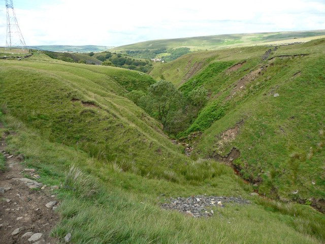 V Shaped Valley Walsden © Humphrey Bolton Geograph