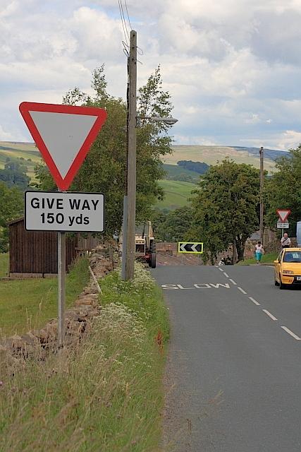 Give Way Sign B6255  Mick Garratt  Geograph Britain