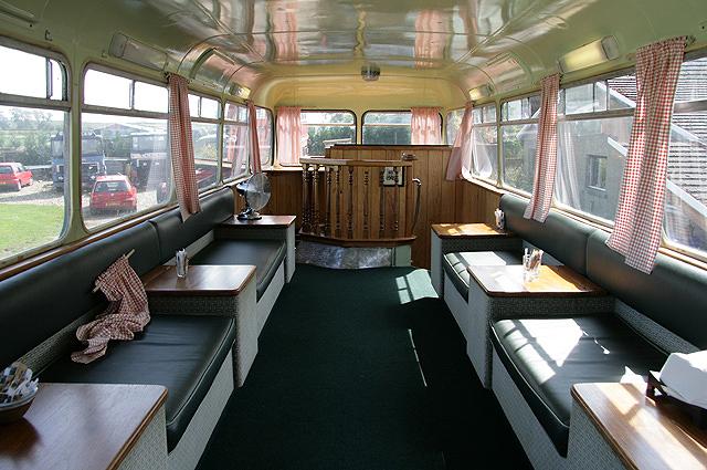 Inside The Chain Bridge Bus Caf Walter Baxter Cc By Sa