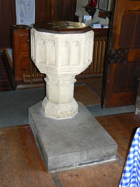 Font Church of St James Cherhill  Brian Robert Marshall