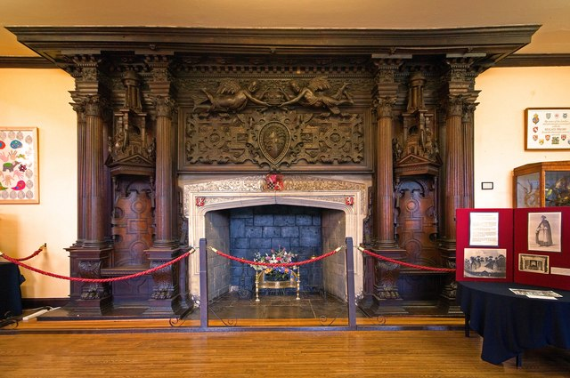 Fireplace Holbein Hall Reigate Priory Ian Capper Cc By