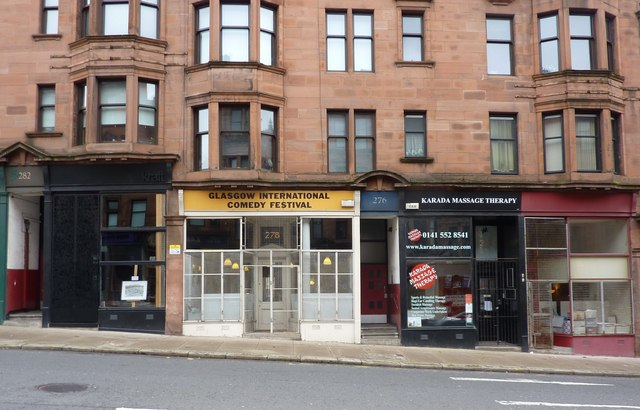 Shop fronts on High Street Glasgow  Peter Barr ccbysa
