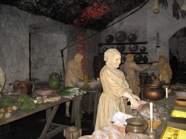 Recreation of the Great Kitchen at  M J Richardson