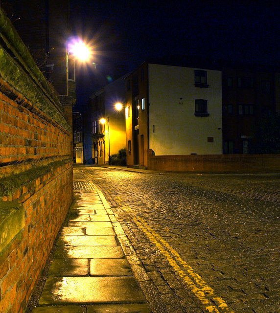 High Street at Night  Andy Beecroft  Geograph Britain and Ireland