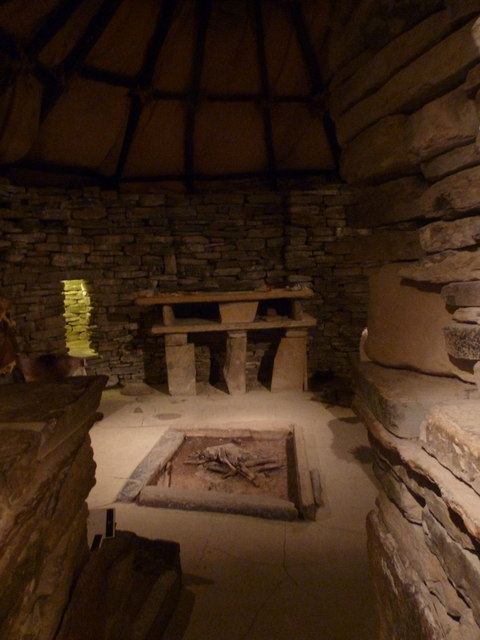 Skara Brae inside a Neolithic house  Chris Downer ccby