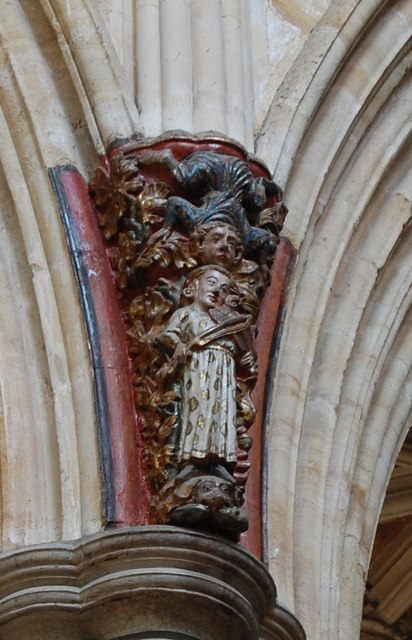 Carved Corbel Exeter Cathedral  Julian P Guffogg  Geograph Britain and Ireland