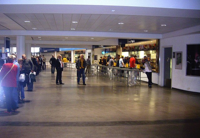 Concourse and comestible bars inside  Stanley Howe