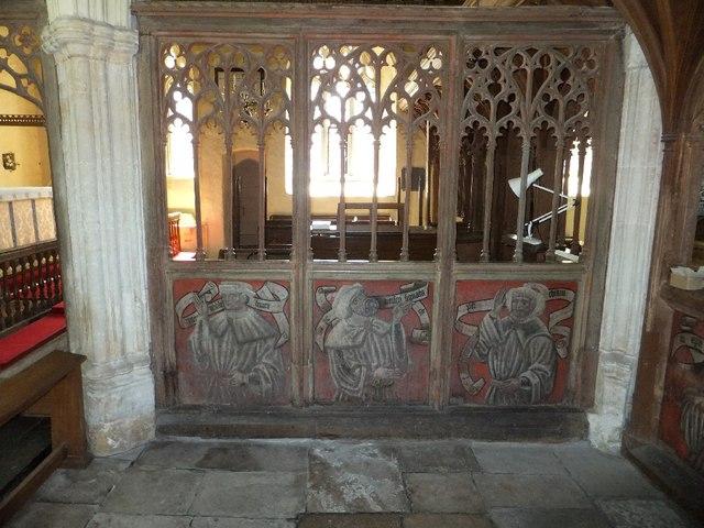 Painted screen in Ashton church © David Smith :: Geograph Britain