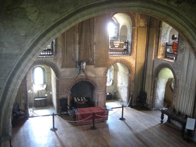 Interior Of The Keep Hedingham Castle Derek Voller
