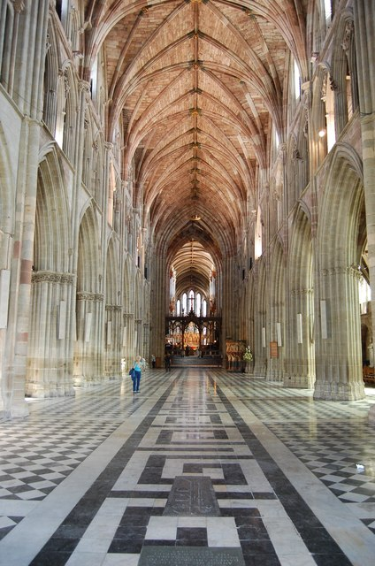 Worcester Cathedral Nave  Julian P Guffogg  Geograph Britain and Ireland