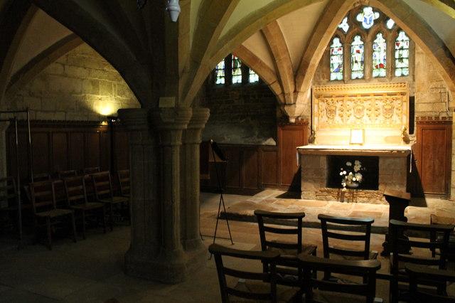 Crypt and Medieval altar St Wulframs  JHannan