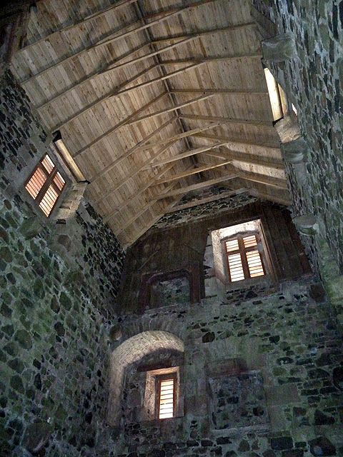 Inside the restored Fatlips Castle