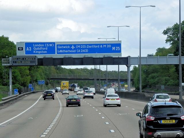 M25 near Junction 10 Wisley  David Dixon  Geograph