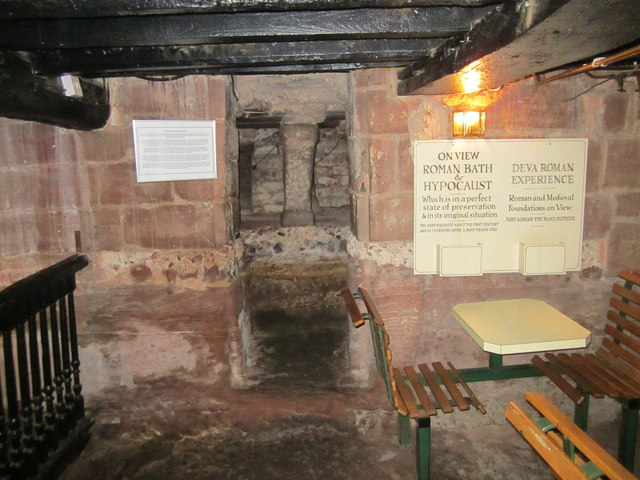 Entrance to the Hypocaust in the cellar  Jeff Buck  Geograph Britain and Ireland
