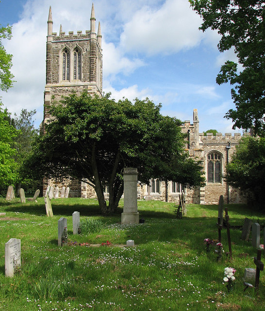 Cockayne Hatley: church and churchyard © John Sutton :: Geograph