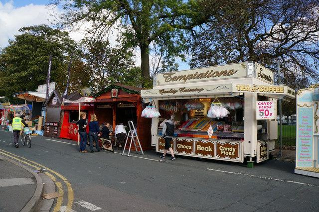 Food stalls at Hull Fair 2014  Ian S  Geograph Britain