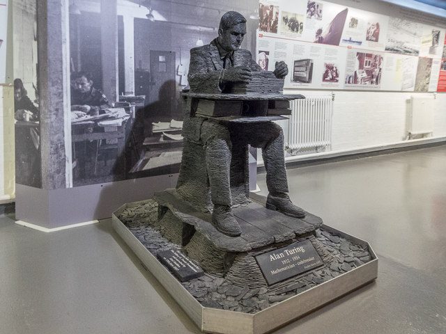 Statue of Alan Turing Bletchley Park  Christine