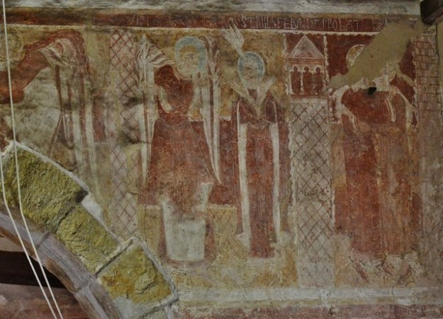 "Hardham: St. Botolphs Church: The ""Lewes Group"" 12th century wall paintings"