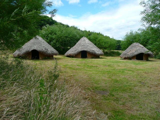 Reconstructed Iron Age settlement Herd  Humphrey